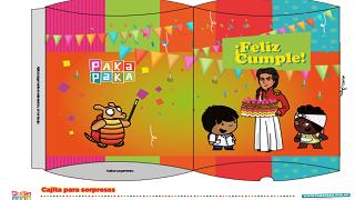 Cajita Para Regalos Zamba Y Juana Azurduy Juegos Pakapaka